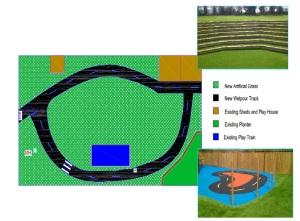 Garden plan, edited grass